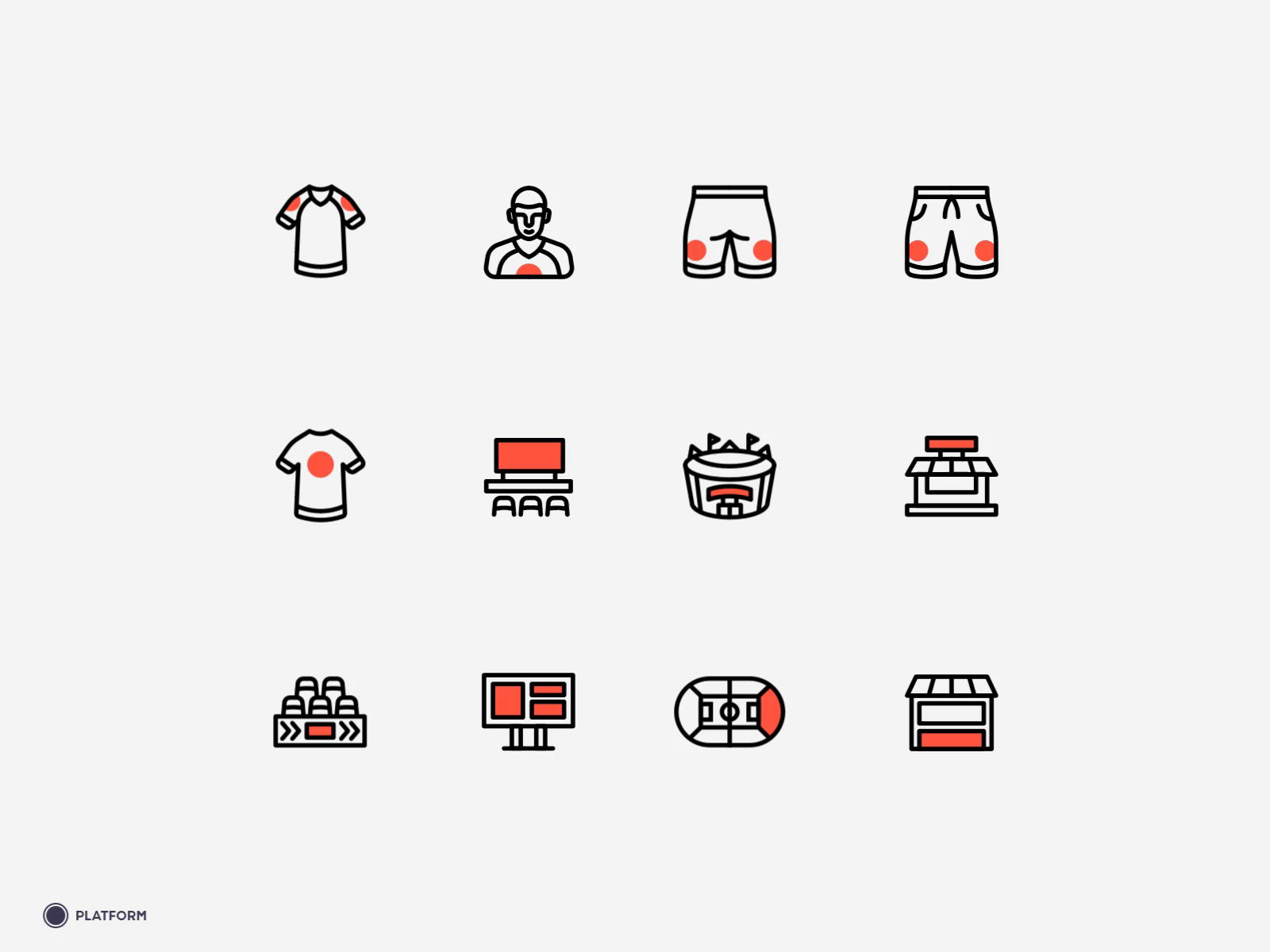 Sponsor Online Inventory Icons By Platform Icon Inventory Icon Design