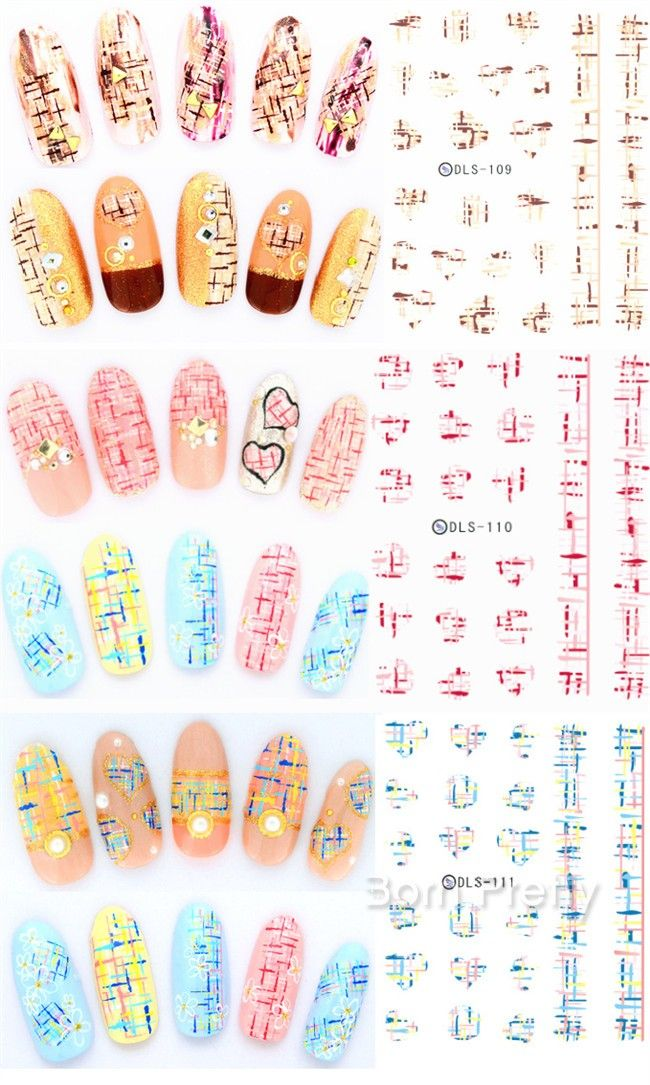 $1.69 Graffiti Heart Nail Art Water Decals Decoration Colored Painting Transfer Stickers - BornPrettyStore.com