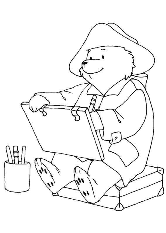 paddington bear colouring pages coloring pinterest paddington