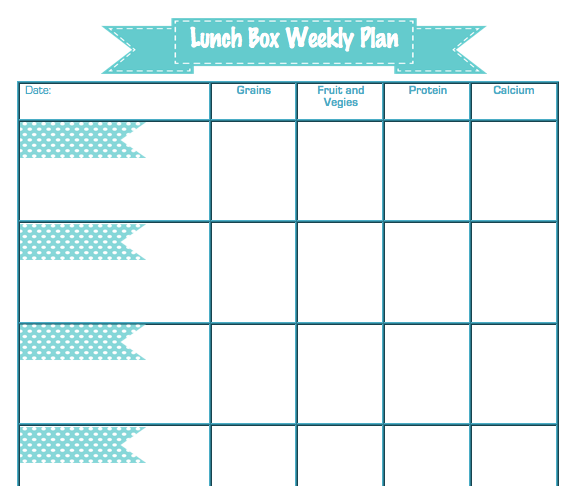 lunch schedule template Template – Lunch Menu Template