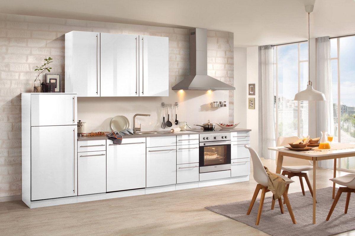 Küchenzeile mit EGeräten »Chicago 350 cm« Küchenzeilen