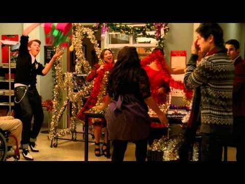 All I Want For Christmas Is You Youtube Videos Music Glee Cast Christmas Music