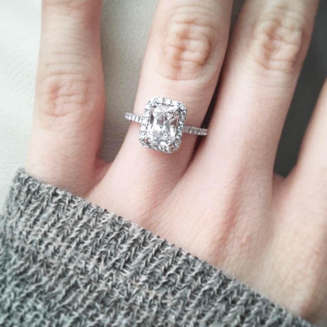 Radiant cut engagement ring from shanecompany my dream wedding