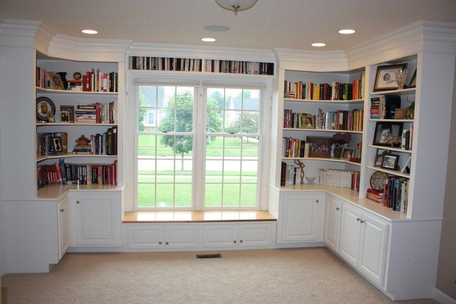 Window Seat Home Bookshelves Built In Office Bookshelves
