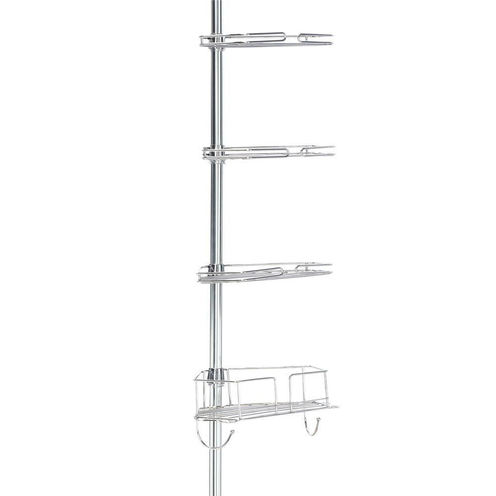 Glacier Bay Metal Tension Mount Pole Shower Caddy In Chrome 2190ss