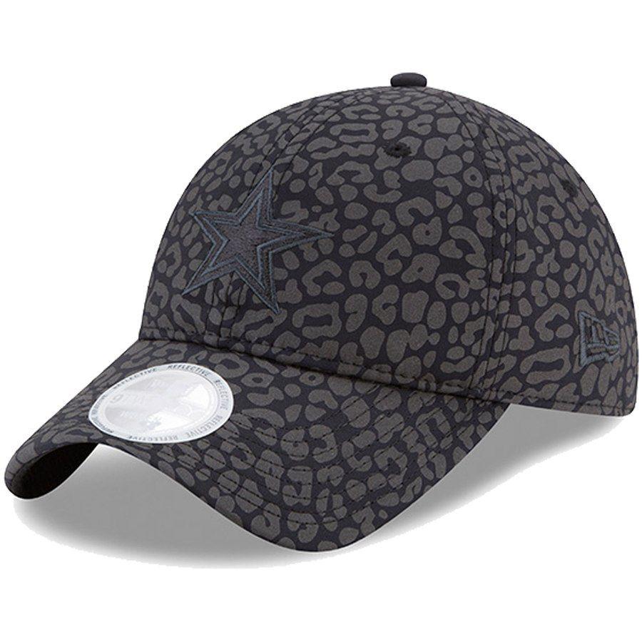 Women s Dallas Cowboys New Era Black Leopard Flect 2 9TWENTY Adjustable Hat f43035e26