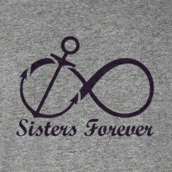 My sister from another Mr. and I are going to get this to show how much we love each other and will always keep each other anchored in love, faith and hope.