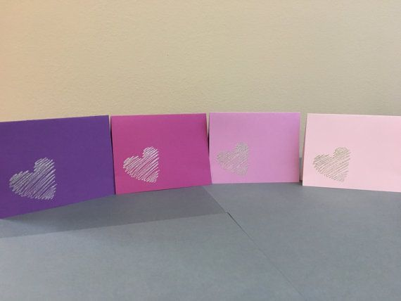 Valentine\u0027s Day - Heart Note Cards pv31cards@gmail Note Cards - purple note cards
