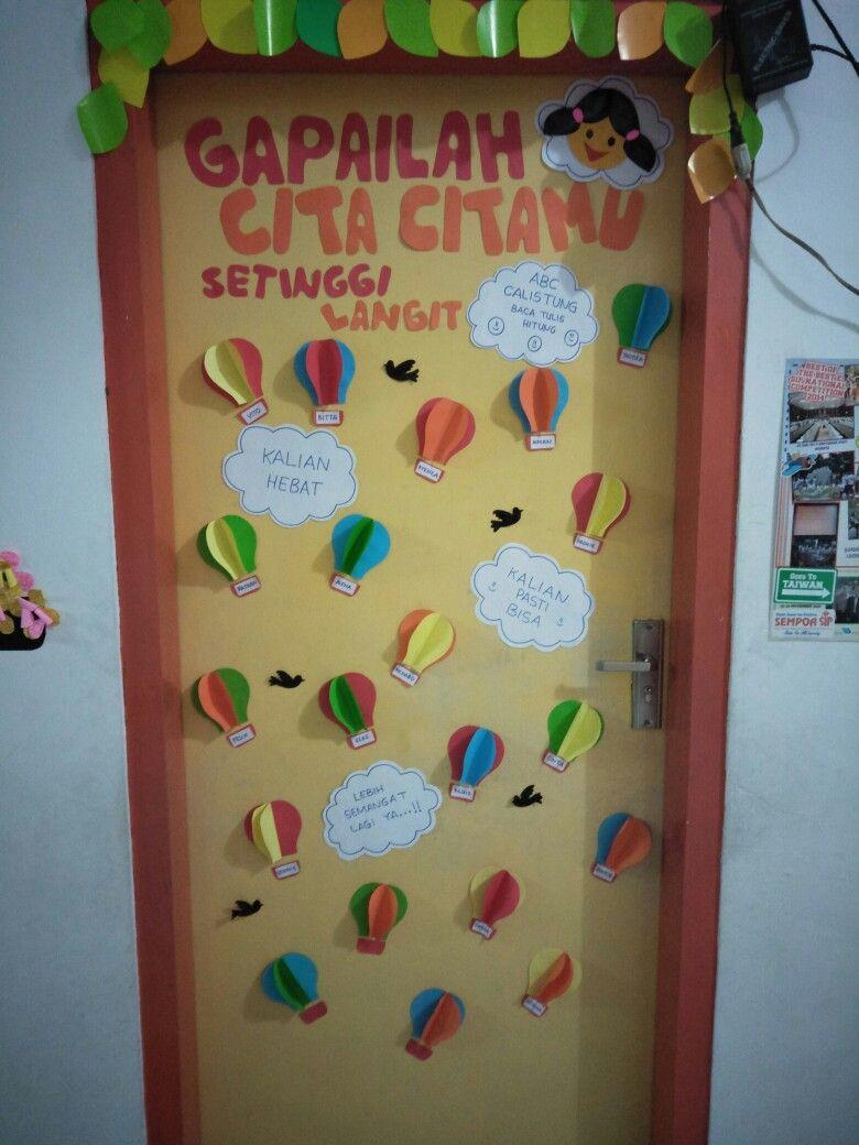 Hiasan pintu Ide ruang kelas, Ide dekorasi, Hiasan