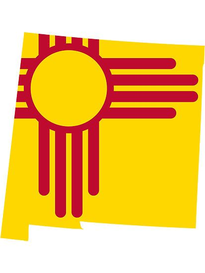 New Mexico Flag State Line Steezefsc By Freshthreadshop New Mexico Flag New Mexico Tattoo New Mexico