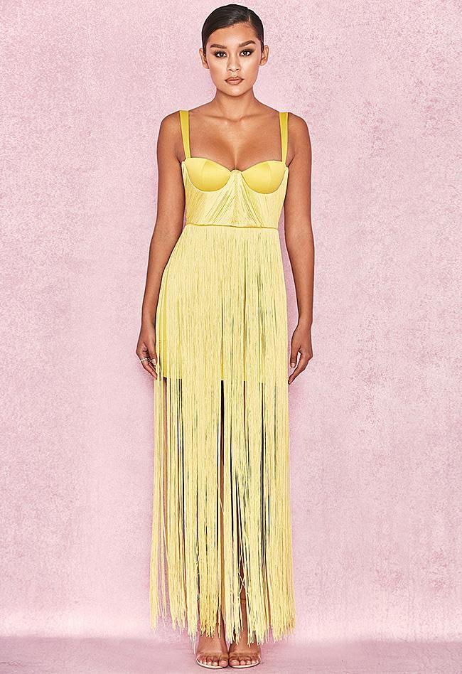 ce3b6b22ab Tassel Satin Bandage Dress   Products   Fringe dress, Dresses ...