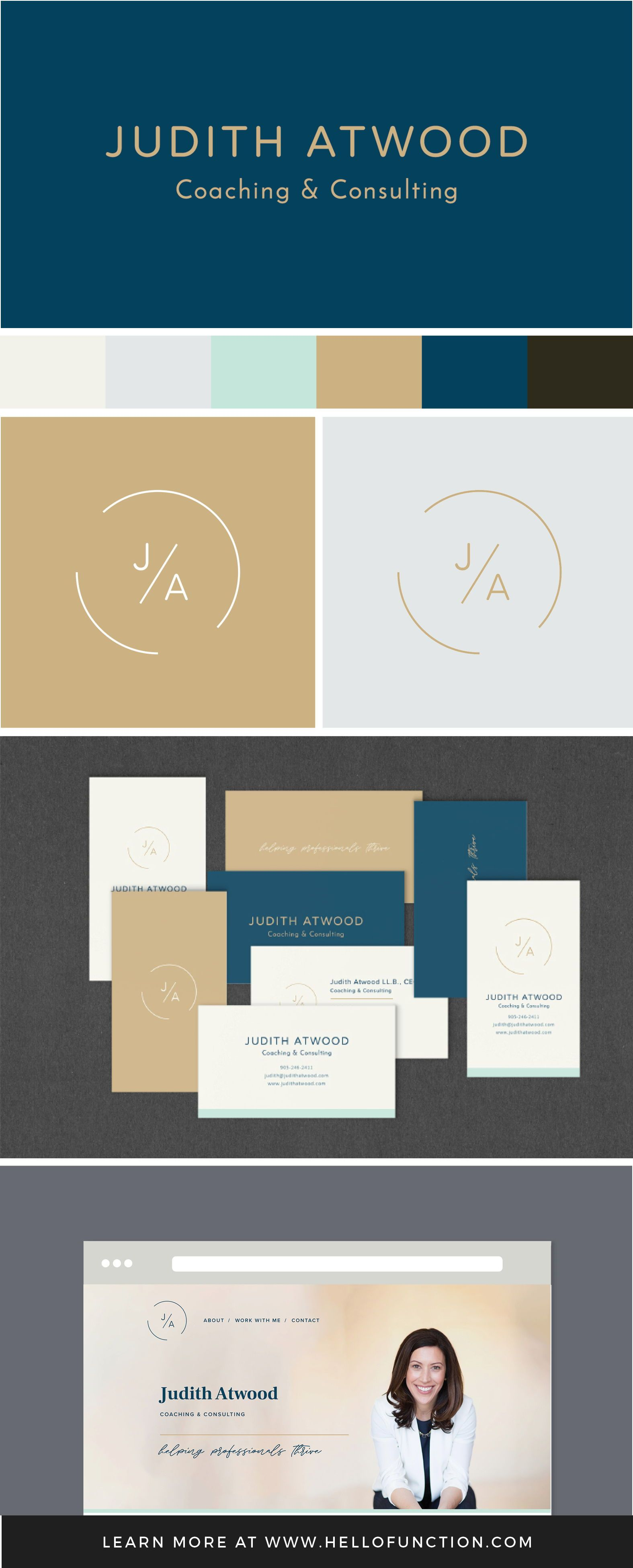 Judith Atwood coaching and counseling brand identity by