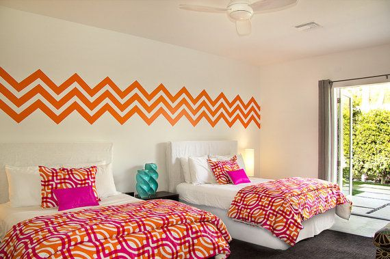 Nice Wall Decals Chevron Geometric Pattern Mural By WallStarGraphics, $140.00