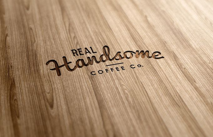 create realistic logo wood carving by deanyeong