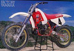 Broc Glover Yamaha YZ 250  Factory  1986