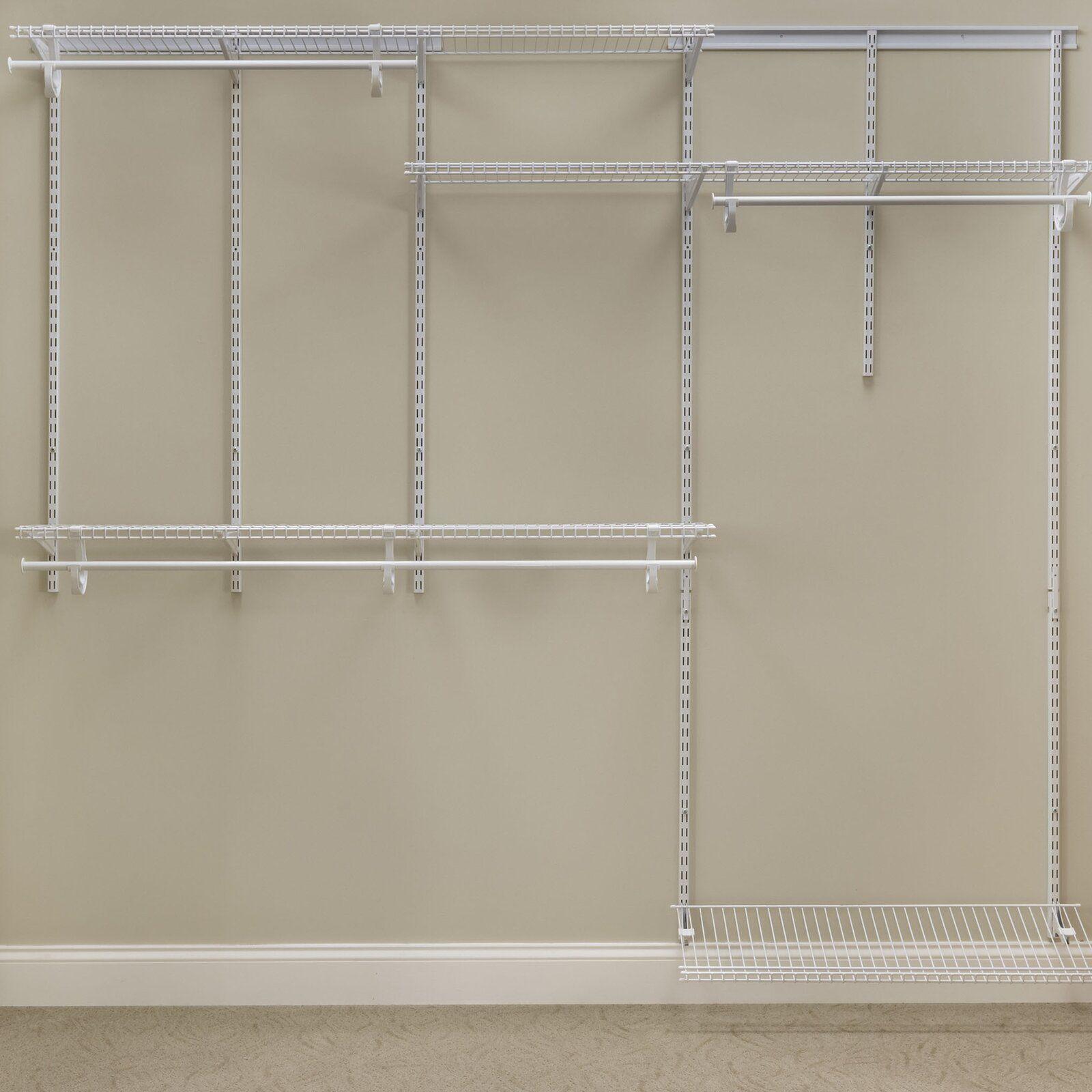 Shelftrack 60 W 96 W Closet System In 2020 Wire Closet Systems Closet System Closet Organizing Systems