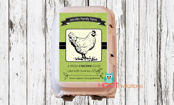 Custom Egg Carton Labels to print at home - A4 or Letter size sheet