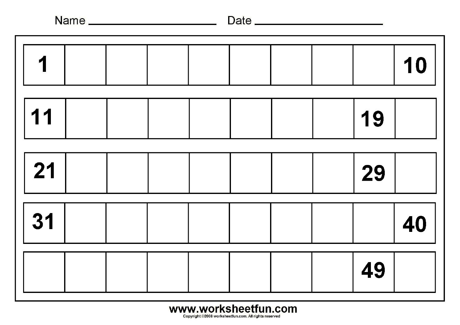 missing numbers 1 to 50 8 worksheets printable worksheets. Black Bedroom Furniture Sets. Home Design Ideas