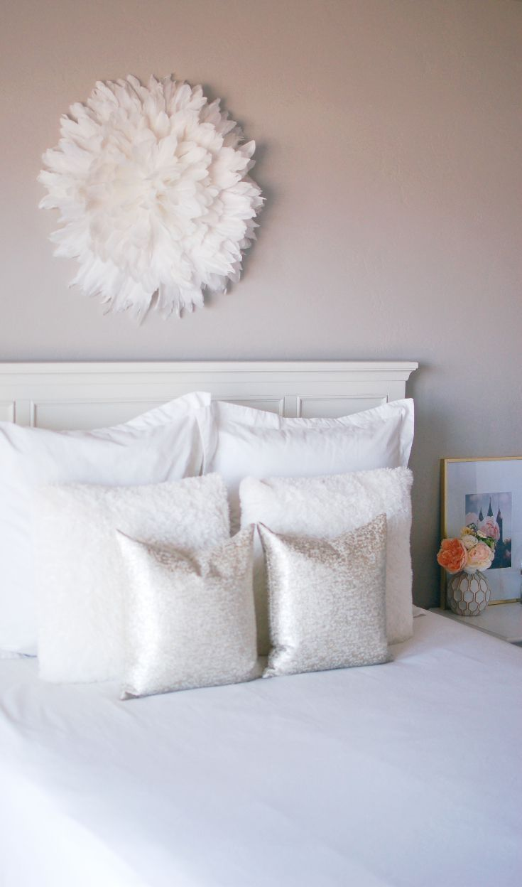This Juju hat DIY decor is perfect above bed, in a bedroom, living room, nursery or fireplace! My tutorial for how to make a Juju hat is super easy and cheap and only takes an hour! #decor #jujuhat #homedecor #DIY #handmade #home #interiordesign #craft #loveloveloveblog