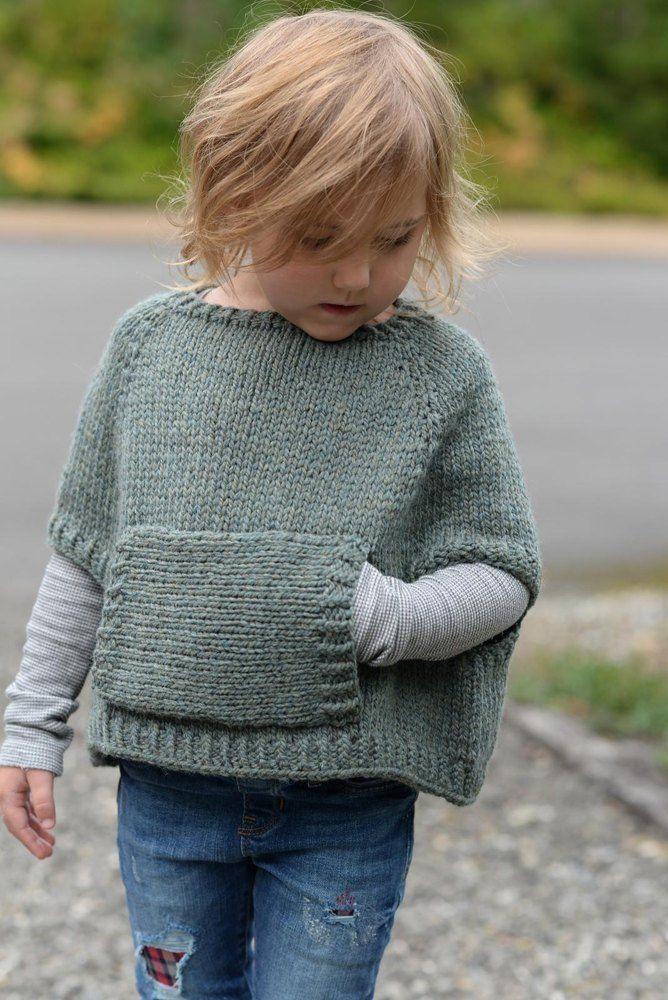 Odila Cape Pullover Knitting Patterns For Children Pinterest