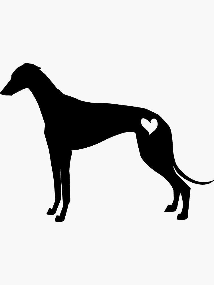 Greyhound Silhouette Sticker By Hannachu Redbubble Greyhound Tattoo Greyhound Art Silhouette Art