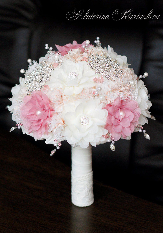 SALE!Brooch bouquet Fabric bouquet wedding bouquet Dusty