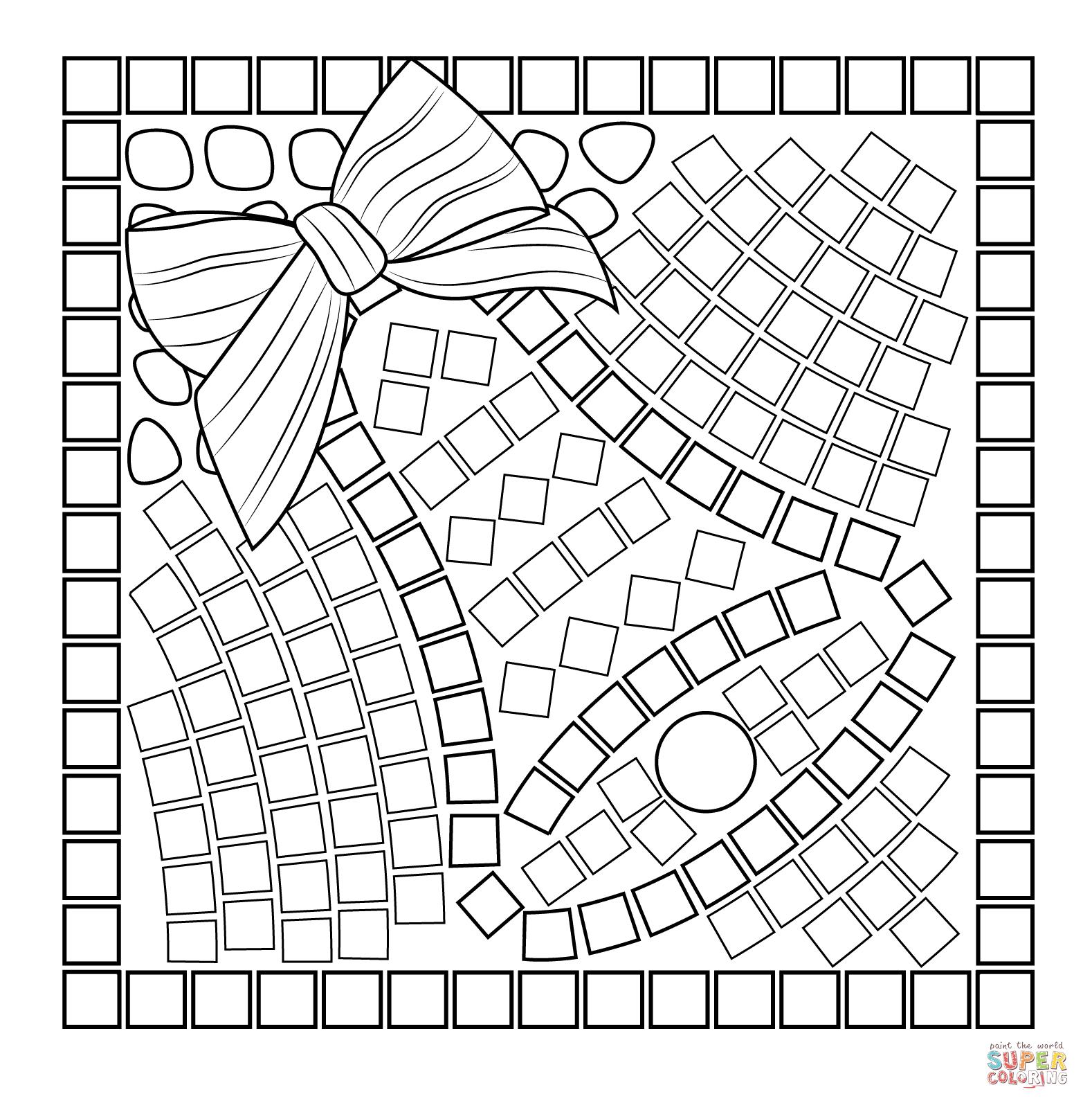 Christmas Mosaic Coloring Pages Christmas Mosaics Free Mosaic Patterns Coloring Pages