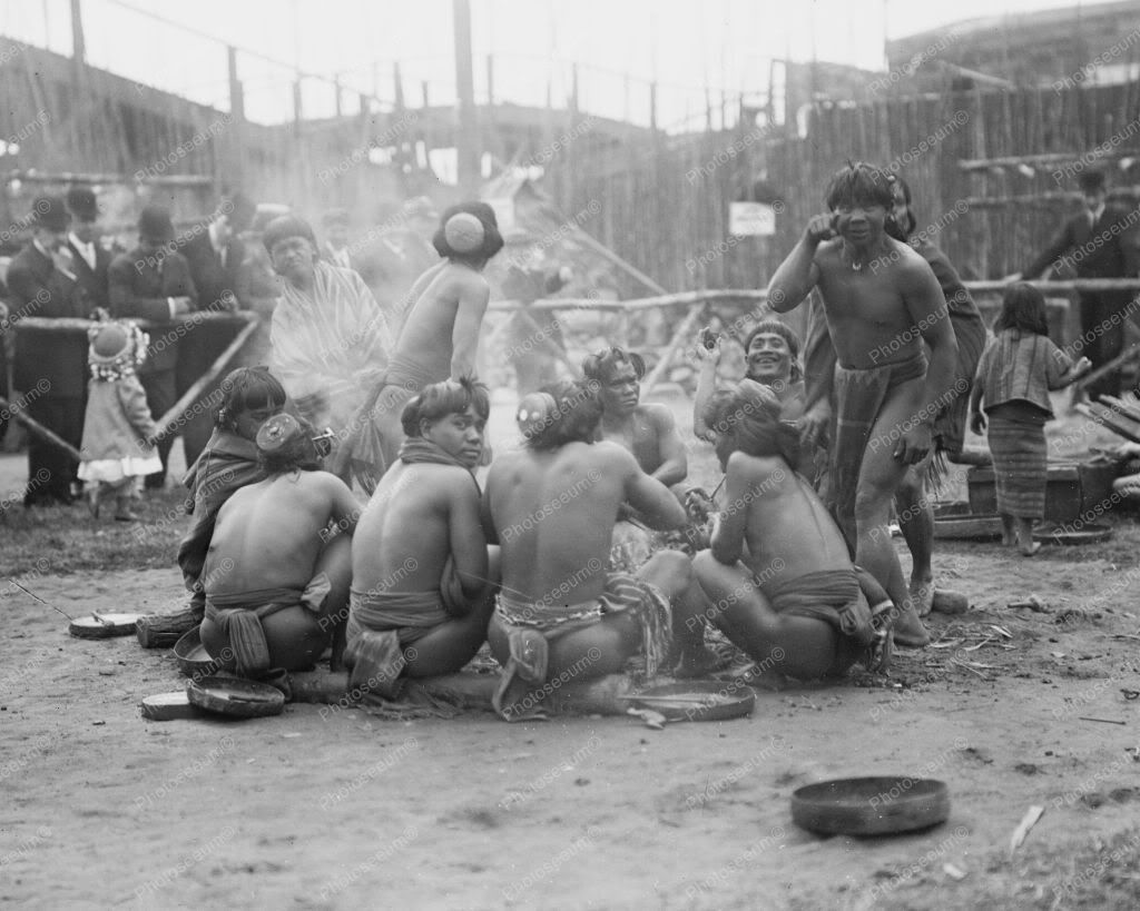 Filipinos In Loin Cloths Dreamland 1900s 8x10 Reprint Of Old Photo