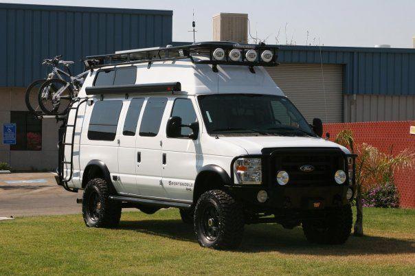 Fiberine Hi Top Sportsmobile Van Ford Van Van Roof Racks 4x4 Van