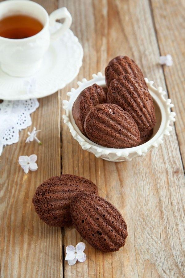 Mini-madeleines riches en chocolat