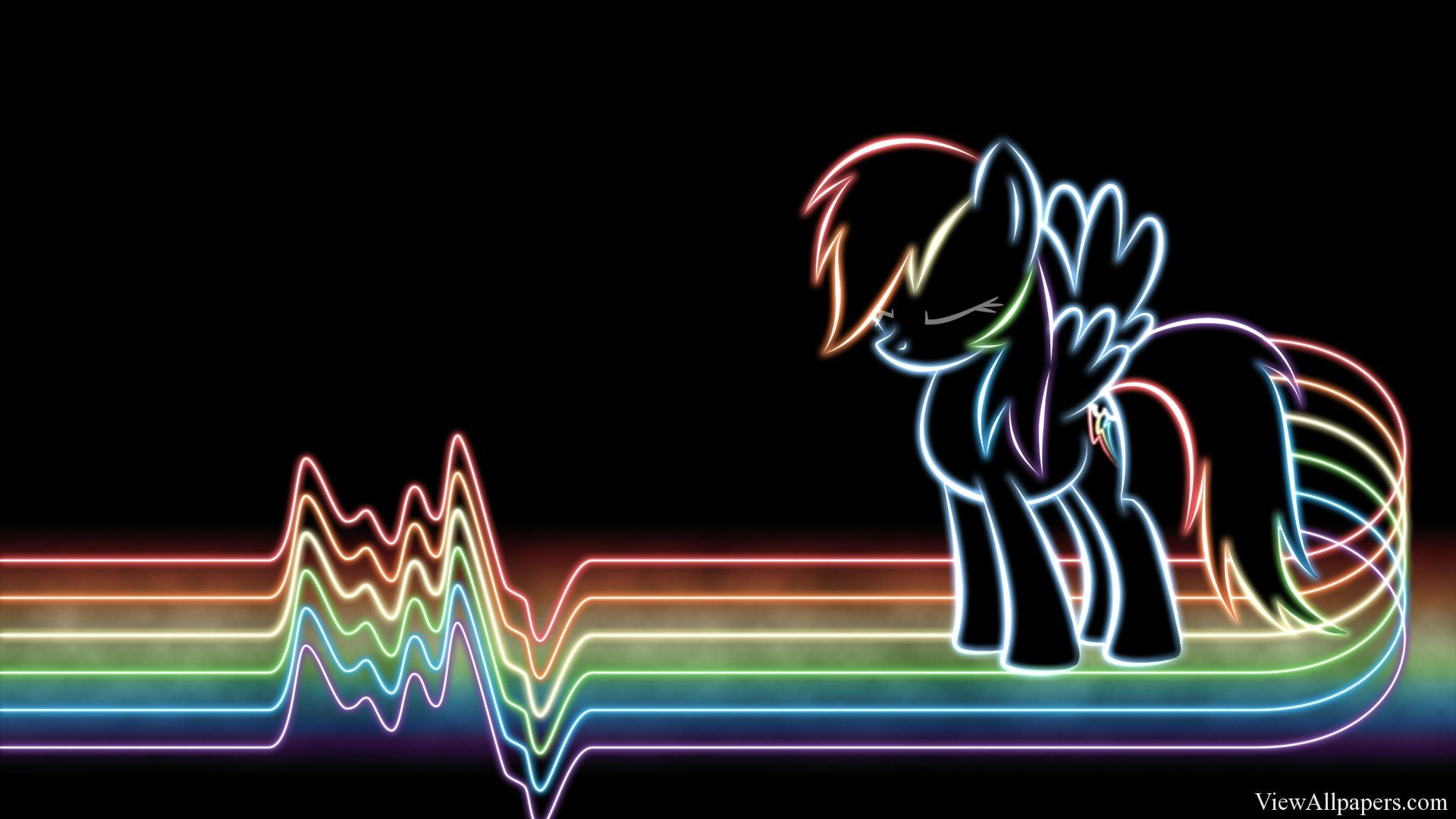 Rainbow Dash Glow Hd Wallpaper By Smockhobbes High Resolution