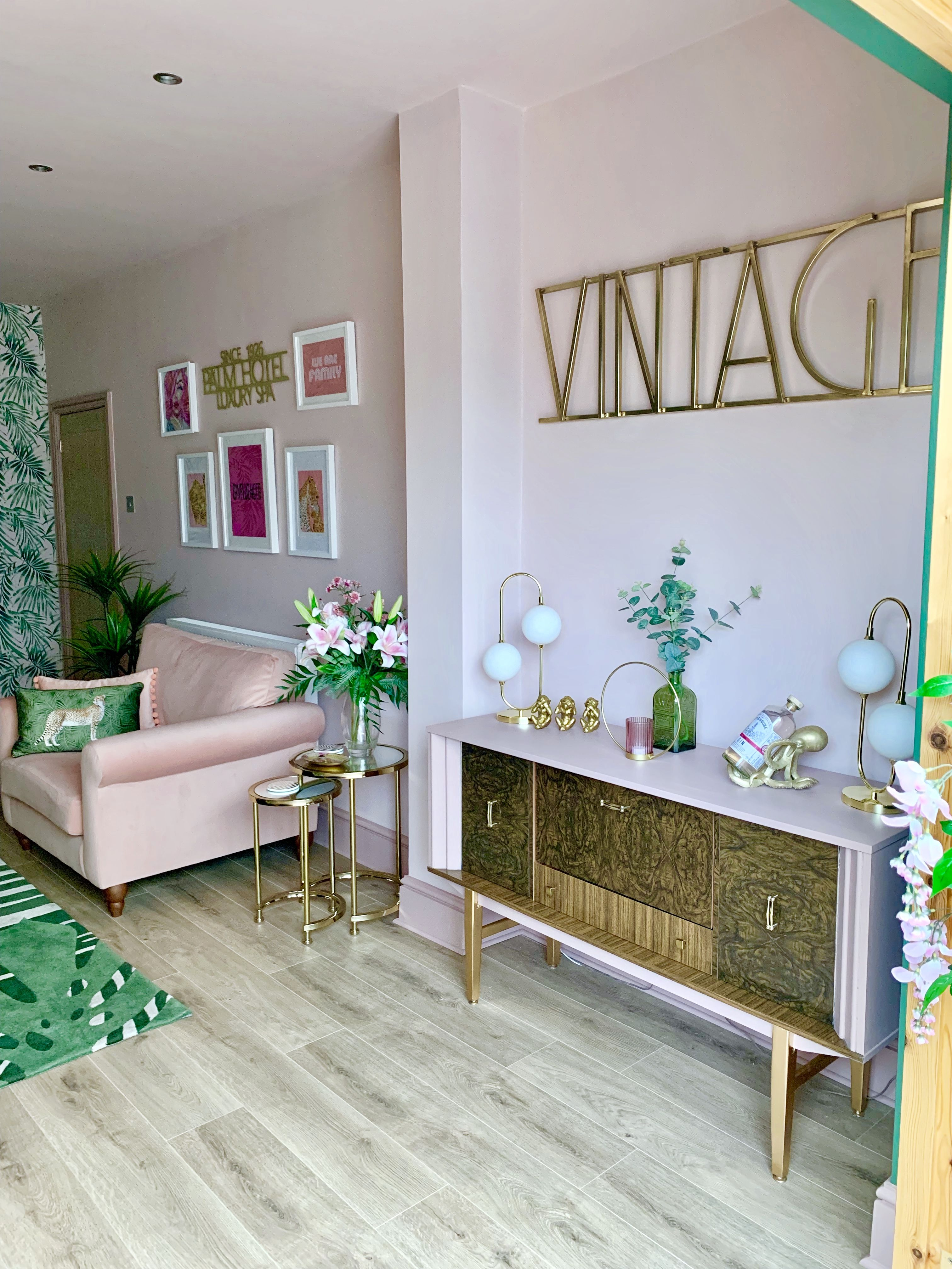 Luxe Vintage Inspired Pink Living Room Decor Pink Living