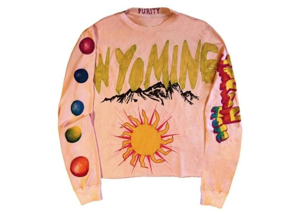Kanye West Wyoming Kkw Long Sleve T Shirt Pink Long Sleeve Tee Shirts Long Sleeve Hoodie Kanye West
