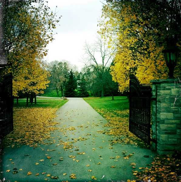 Home Driveway Entrance Ideas: Charming Country Home Driveways, Natural Driveway