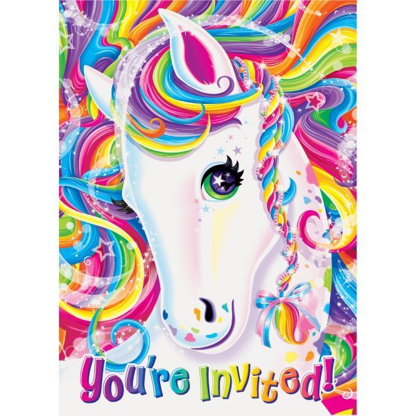 Lisa Frank Rainbow Horse Invitations 8ct | B-day ideas | Pinterest ...