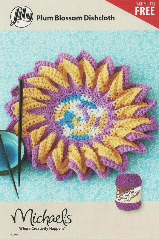 Plum Blossom Dishcloth Free Pattern Free Original Patterns