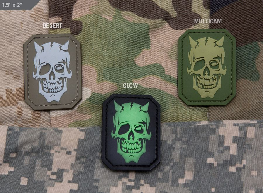 MM DevilSkull PVC Multicam, Patches, Pvc