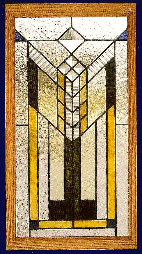 Southwest Style 6 stained glass window panel can be customized in any color or size to suite your tastes