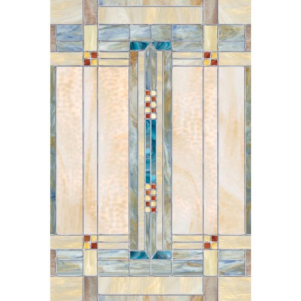 Artscape 24 in. x 36 in. Artisan Decorative Window Film | Decorative ...