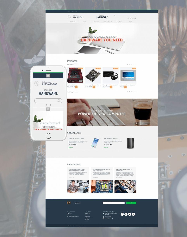 Computer Hardware Ecommerce Website Template | Pinterest | eCommerce ...