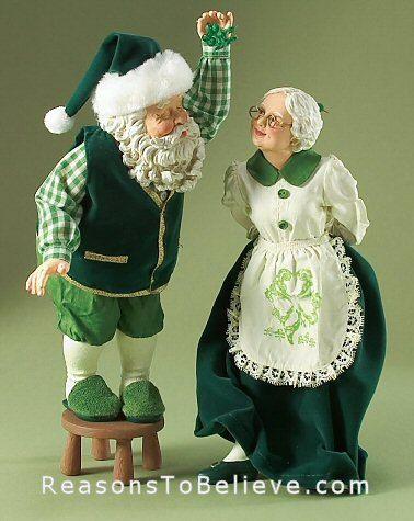 Quando Irlandeses Os Olhos Estao Sorrindo Celtic Christmas Green Santa Irish Christmas