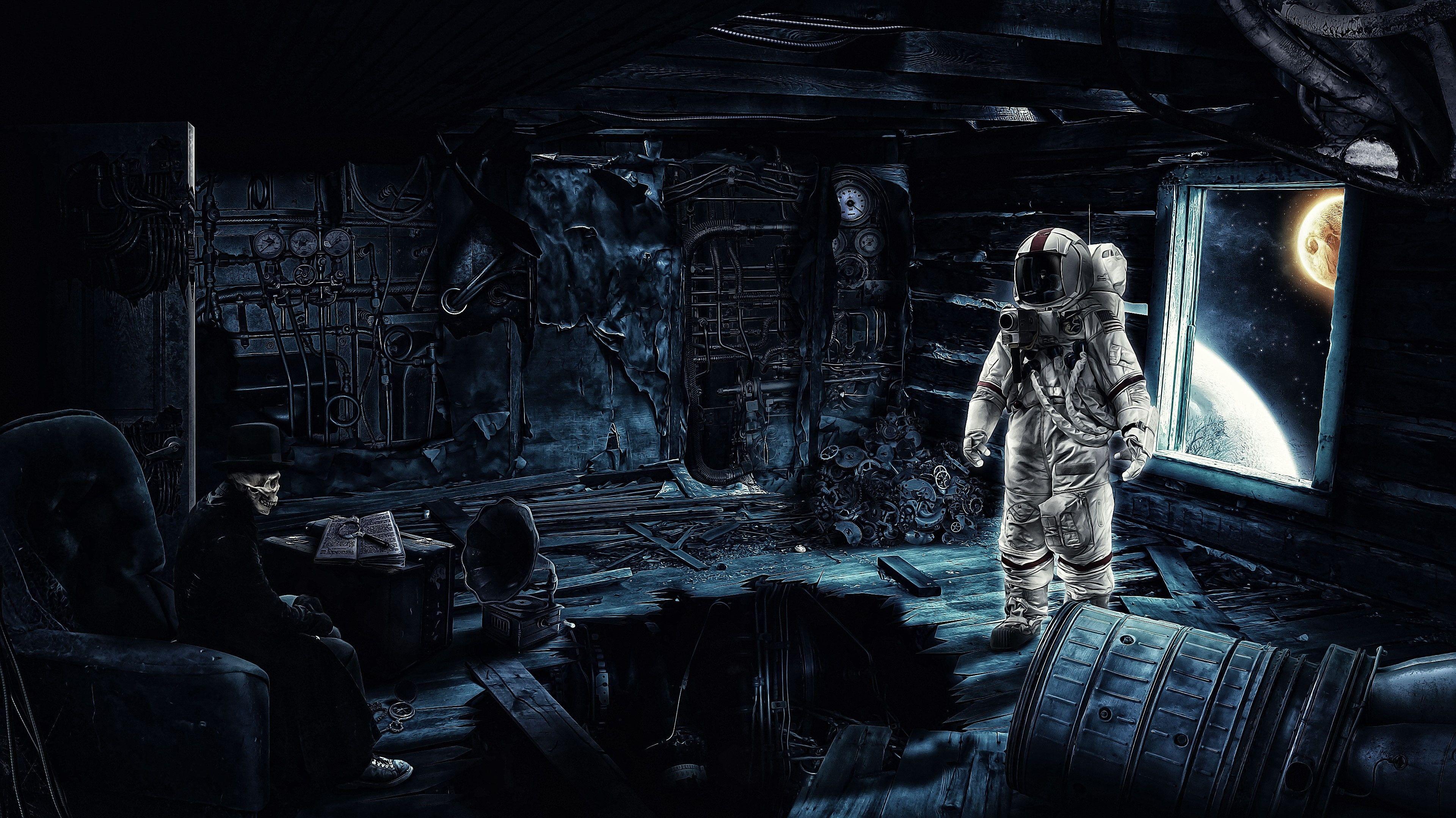 science fiction digital art space art time travel
