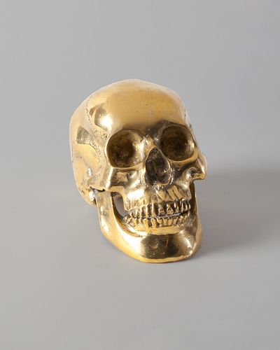 The Decorative Brass Skull By Homemint Com 349 99 Skull Skull And Bones Vintage Eclectic