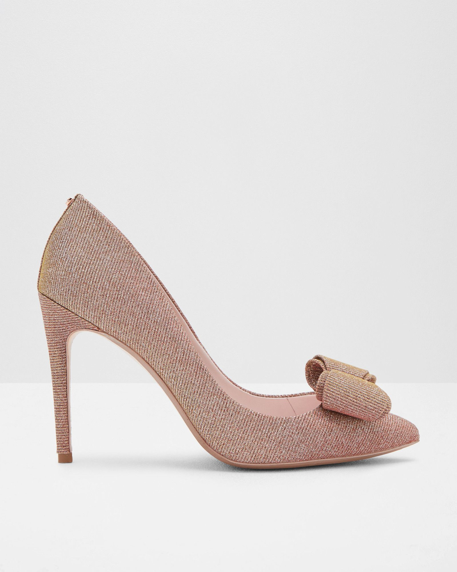 Bow detail courts - Rose Gold   Shoes