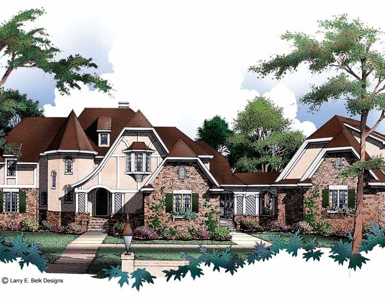 Tudor House Plan with 4146 Square Feet and 4 Bedrooms from Dream Home Source | House Plan Code DHSW46724