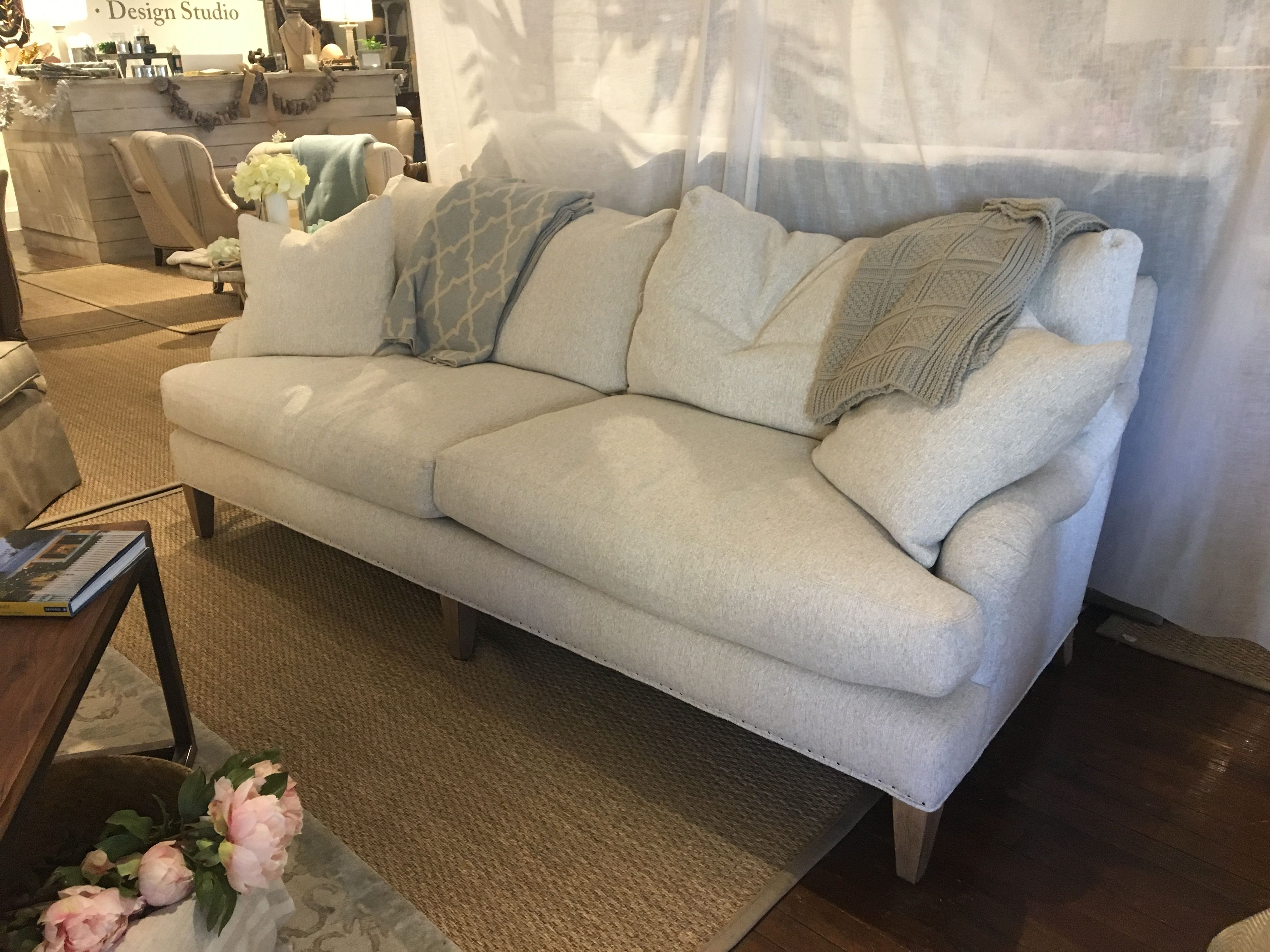 Ardmore Stationary Sofa Cheap Grey Fabric Corner Lee Industries C3612 03 Slipcover Coverall Floor Dover 3 080 00 95w X 45d 38h