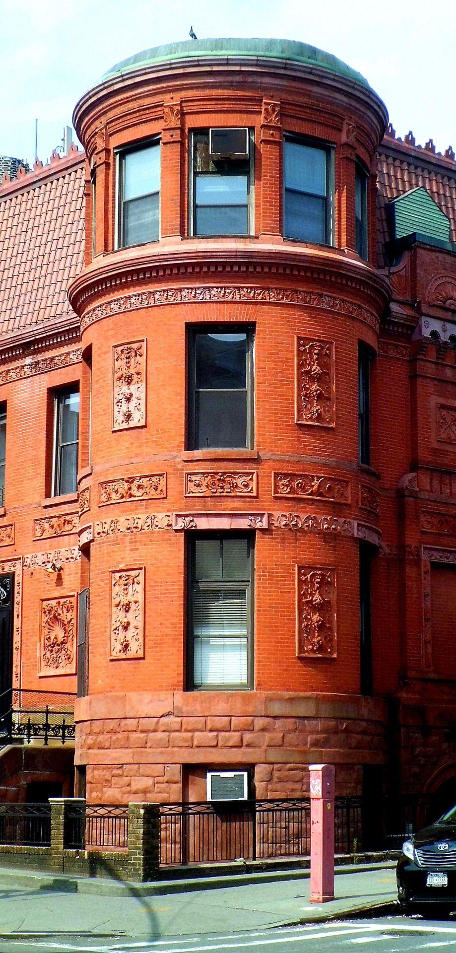 Windows Brickwork And Sculpture In Williamsburg