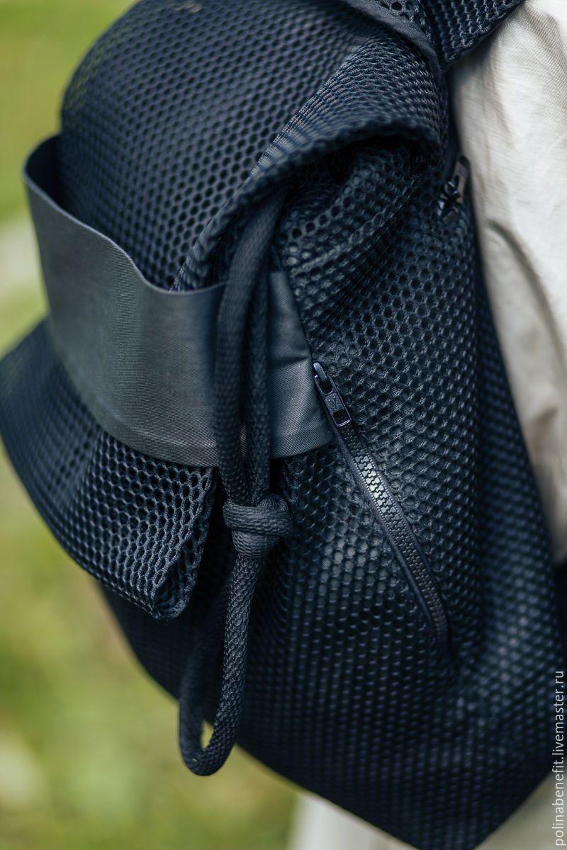 74f036687257 Купить Рюкзак из сетки 3D, чёрный - рюкзак, рюкзак женский, рюкзак ручной  работы