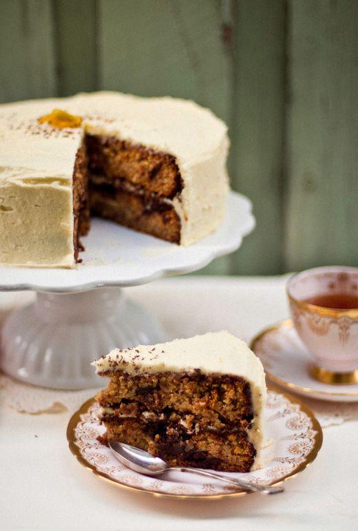 flourless orange and chocolate chunk cake