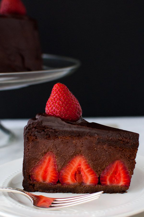 Chocolate Strawberry Mousse Cake...♡